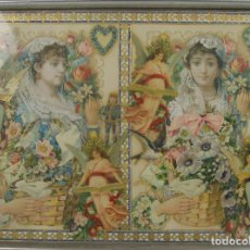 Varios objetos de Arte: I2-001. COMPOSICION DE CROMOS TROQUELADOS CON RELIEVES. S. XIX.. Lote 43863039