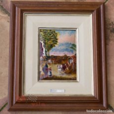 Varios objetos de Arte: ESMALTE AL FUEGO - PAISAJE - PAUL BRIL. Lote 65010179