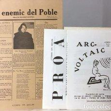 Art: SALVAT PAPASSEIT : UN ENEMIC DEL POBLE. ARC VOLTAIC. PROA. (FACSÍMIL) VANGUARDIA. CATALUÑA.. Lote 65815426