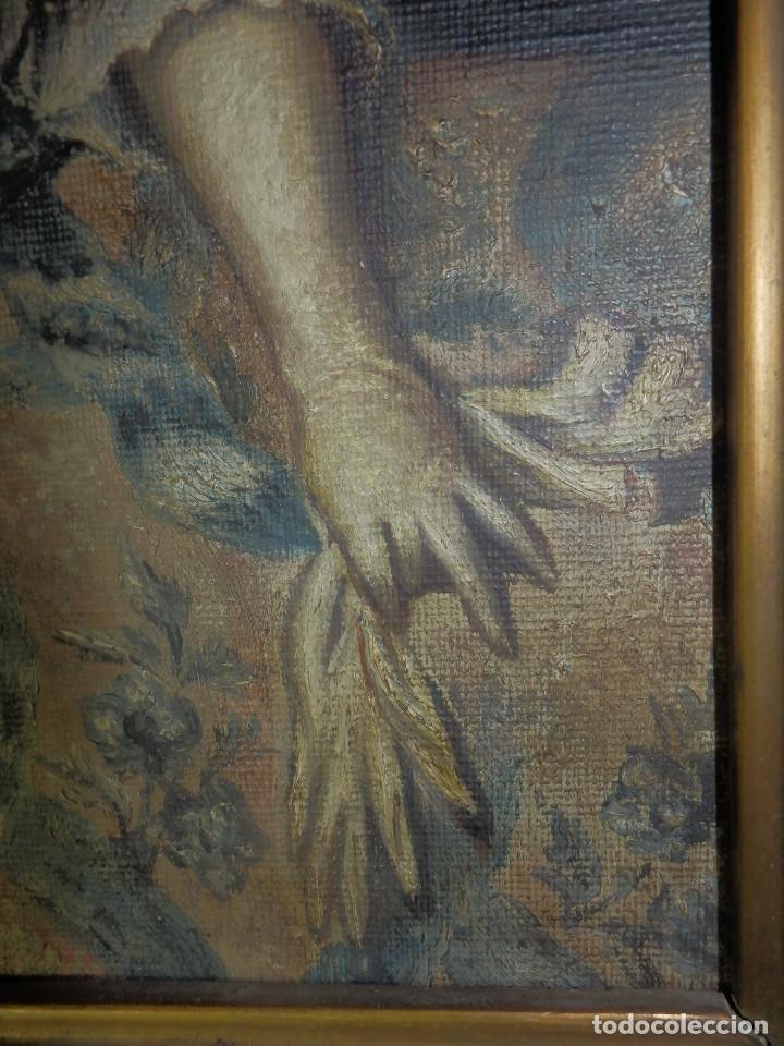 Varios objetos de Arte: Muy antiguo Oleo Sobre Tabla - Dama de aspecto Luis XV o similar - Marco precioso - Excelente estado - Foto 8 - 65890270