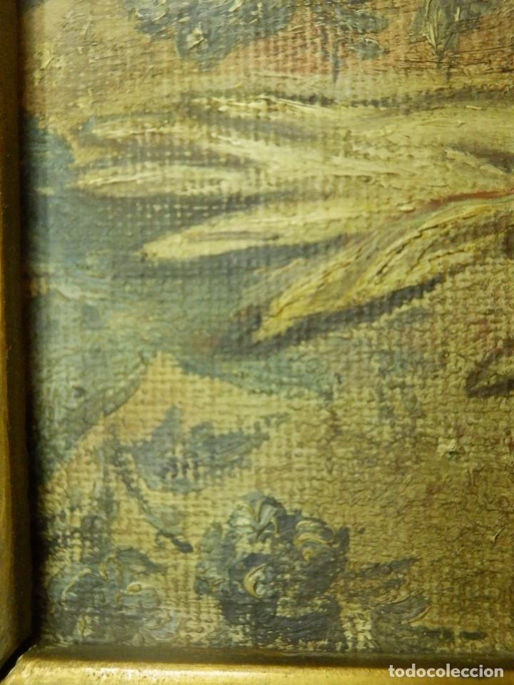 Varios objetos de Arte: Muy antiguo Oleo Sobre Tabla - Dama de aspecto Luis XV o similar - Marco precioso - Excelente estado - Foto 12 - 65890270