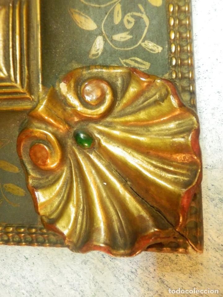 Varios objetos de Arte: Muy antiguo Oleo Sobre Tabla - Dama de aspecto Luis XV o similar - Marco precioso - Excelente estado - Foto 13 - 65890270