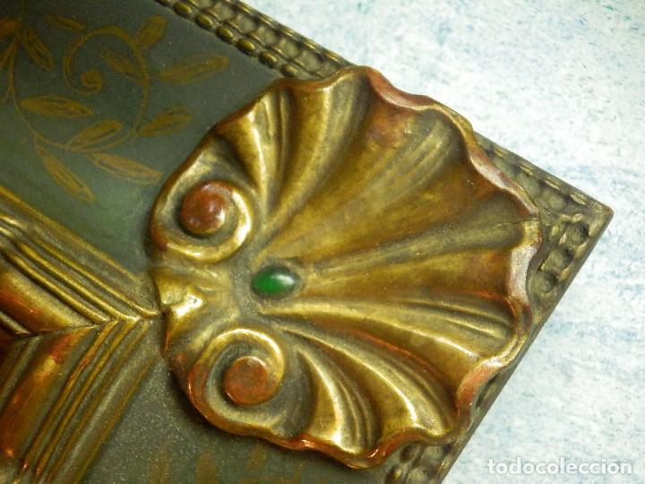 Varios objetos de Arte: Muy antiguo Oleo Sobre Tabla - Dama de aspecto Luis XV o similar - Marco precioso - Excelente estado - Foto 15 - 65890270