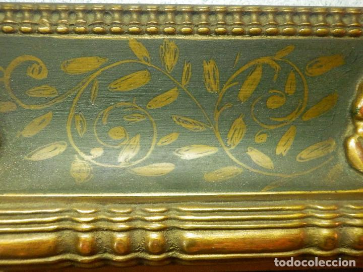 Varios objetos de Arte: Muy antiguo Oleo Sobre Tabla - Dama de aspecto Luis XV o similar - Marco precioso - Excelente estado - Foto 17 - 65890270