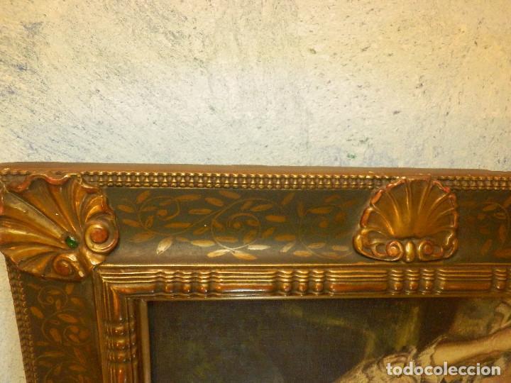 Varios objetos de Arte: Muy antiguo Oleo Sobre Tabla - Dama de aspecto Luis XV o similar - Marco precioso - Excelente estado - Foto 18 - 65890270