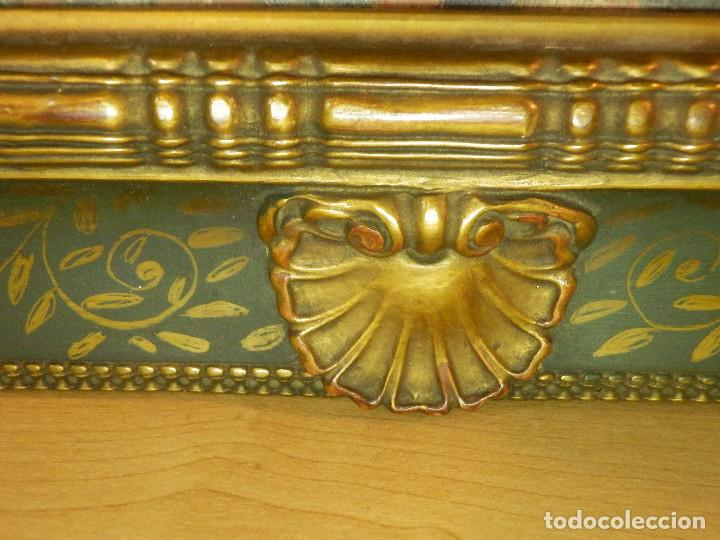 Varios objetos de Arte: Muy antiguo Oleo Sobre Tabla - Dama de aspecto Luis XV o similar - Marco precioso - Excelente estado - Foto 21 - 65890270