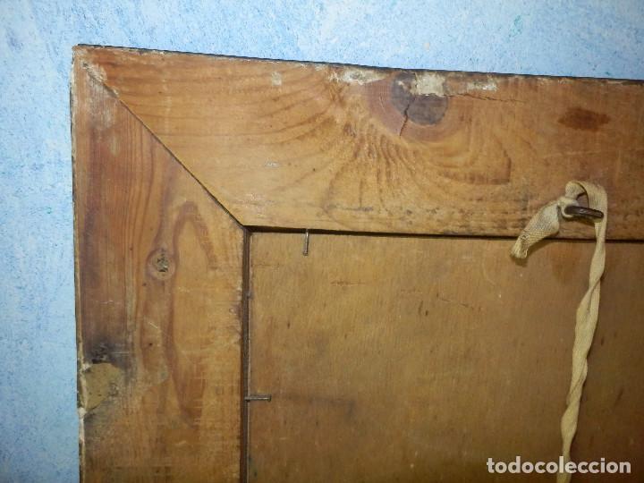 Varios objetos de Arte: Muy antiguo Oleo Sobre Tabla - Dama de aspecto Luis XV o similar - Marco precioso - Excelente estado - Foto 24 - 65890270