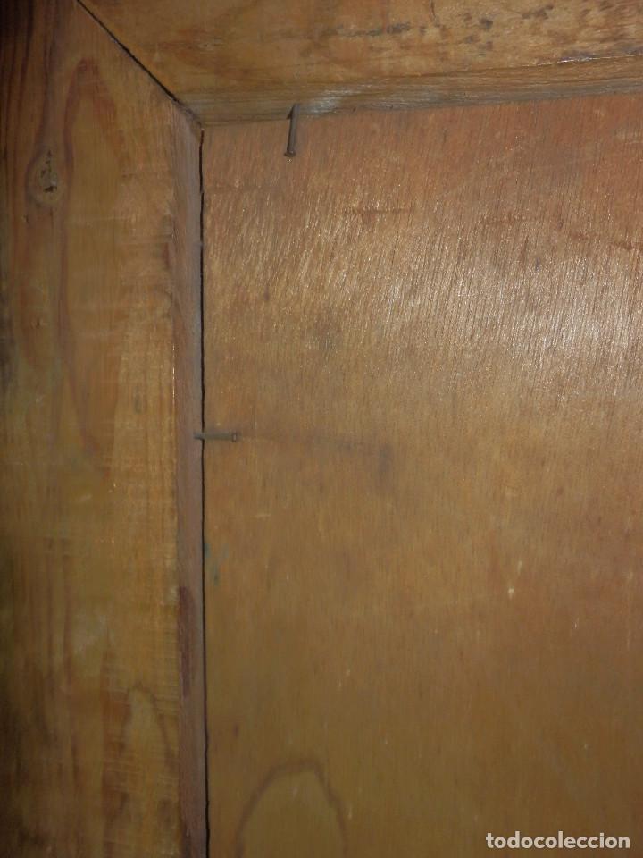 Varios objetos de Arte: Muy antiguo Oleo Sobre Tabla - Dama de aspecto Luis XV o similar - Marco precioso - Excelente estado - Foto 25 - 65890270