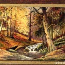 Varios objetos de Arte: ESMALTE SOBRE COBRE DE LIMOGES SARLANDIE FIRMADO. Lote 67432929