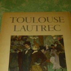 Varios objetos de Arte: TOULOUDE LAUTREC GEMALDE CON 10 DIBUJOS,AÑOS 40.. Lote 67527113