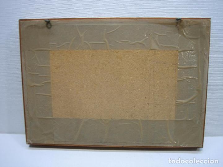 Varios objetos de Arte: Cuadro en azulejo pintado. Asociación amigos de Ecija 1985.M 32x22,5 cm. Firmado R. Armenta - Foto 3 - 67608177