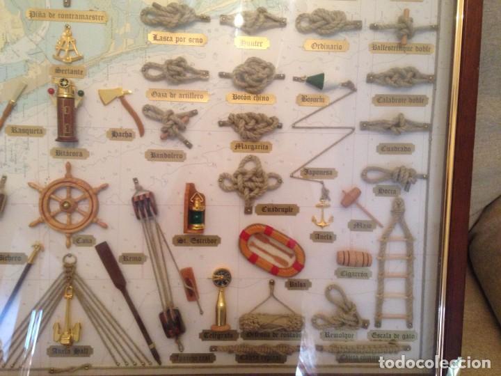 Cuadro con nudos y accesorios marineros grandes comprar for Cuadros grandes dimensiones