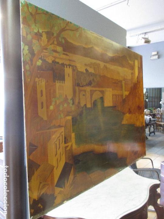 Varios objetos de Arte: Espectacular Panel - Plafón - Marquetería - Diferentes Maderas y Raíces -Paisaje -Castillo, Puente - Foto 4 - 68232597
