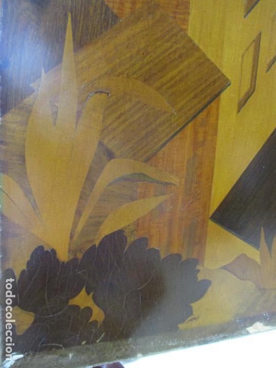 Varios objetos de Arte: Espectacular Panel - Plafón - Marquetería - Diferentes Maderas y Raíces -Paisaje -Castillo, Puente - Foto 5 - 68232597