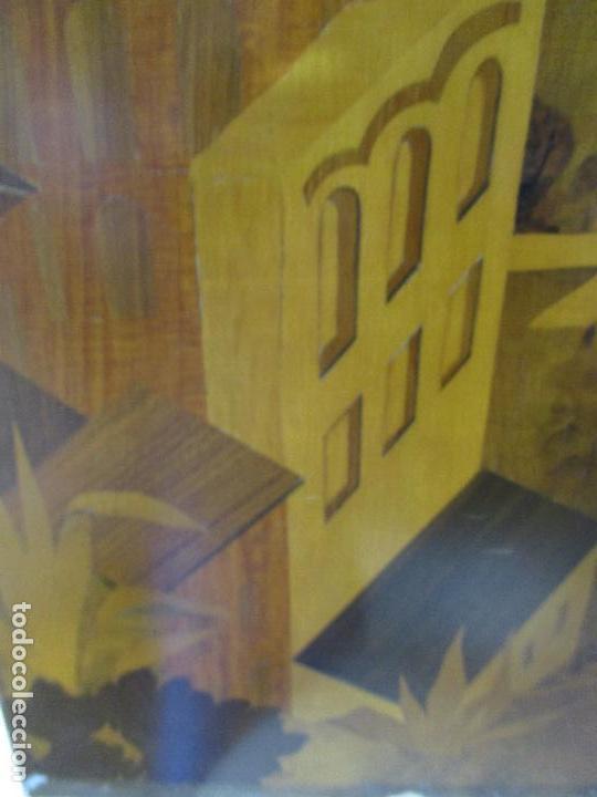 Varios objetos de Arte: Espectacular Panel - Plafón - Marquetería - Diferentes Maderas y Raíces -Paisaje -Castillo, Puente - Foto 6 - 68232597