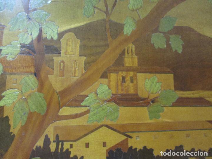 Varios objetos de Arte: Espectacular Panel - Plafón - Marquetería - Diferentes Maderas y Raíces -Paisaje -Castillo, Puente - Foto 8 - 68232597