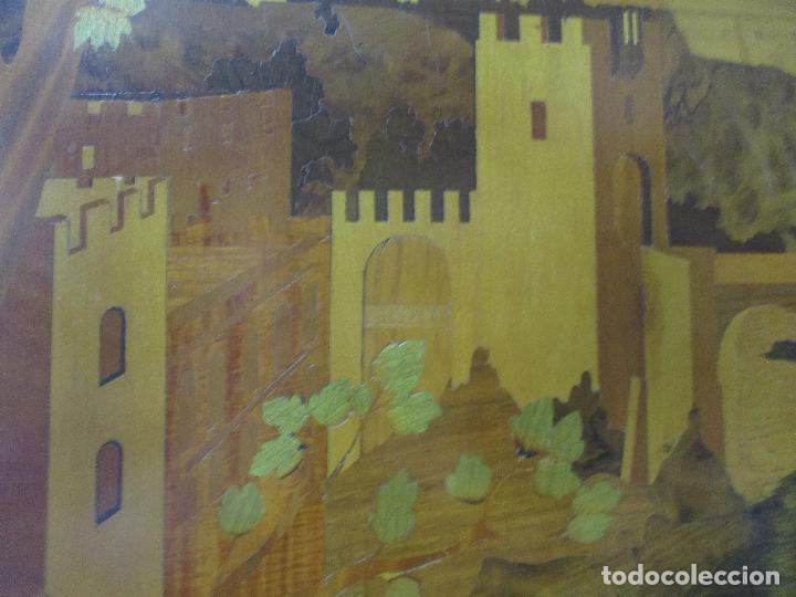 Varios objetos de Arte: Espectacular Panel - Plafón - Marquetería - Diferentes Maderas y Raíces -Paisaje -Castillo, Puente - Foto 9 - 68232597