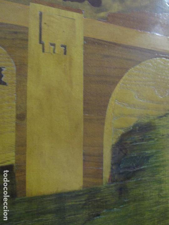 Varios objetos de Arte: Espectacular Panel - Plafón - Marquetería - Diferentes Maderas y Raíces -Paisaje -Castillo, Puente - Foto 12 - 68232597