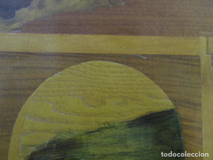Varios objetos de Arte: Espectacular Panel - Plafón - Marquetería - Diferentes Maderas y Raíces -Paisaje -Castillo, Puente - Foto 13 - 68232597