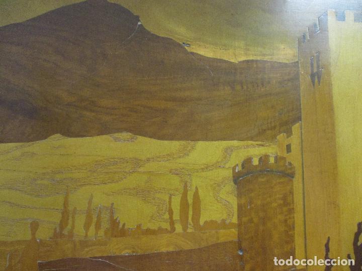 Varios objetos de Arte: Espectacular Panel - Plafón - Marquetería - Diferentes Maderas y Raíces -Paisaje -Castillo, Puente - Foto 15 - 68232597