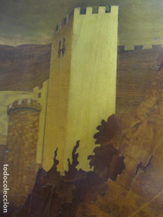 Varios objetos de Arte: Espectacular Panel - Plafón - Marquetería - Diferentes Maderas y Raíces -Paisaje -Castillo, Puente - Foto 16 - 68232597
