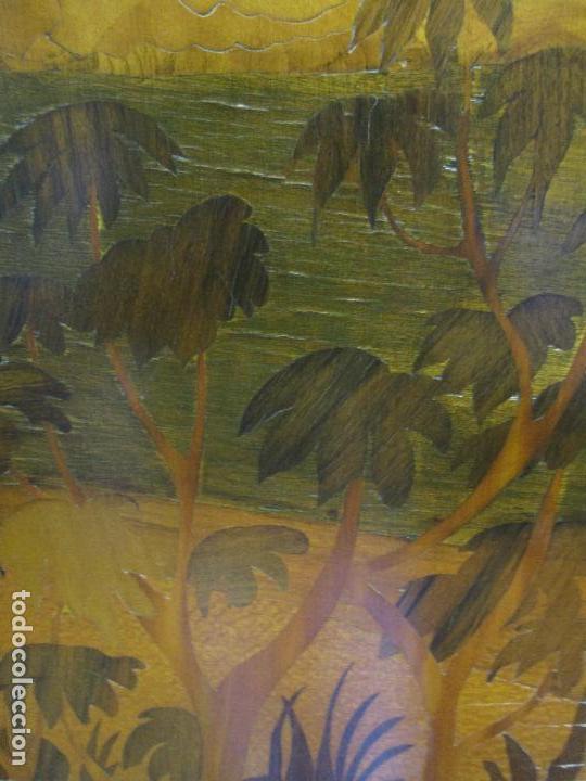 Varios objetos de Arte: Espectacular Panel - Plafón - Marquetería - Diferentes Maderas y Raíces -Paisaje -Castillo, Puente - Foto 17 - 68232597