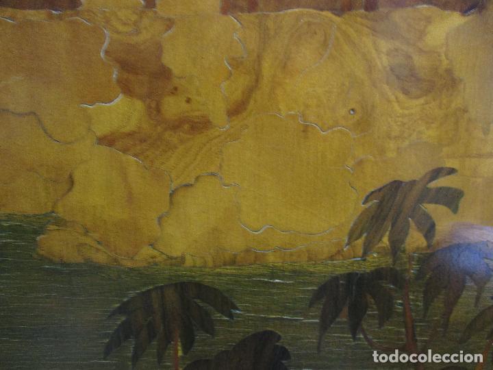 Varios objetos de Arte: Espectacular Panel - Plafón - Marquetería - Diferentes Maderas y Raíces -Paisaje -Castillo, Puente - Foto 18 - 68232597