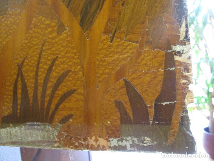 Varios objetos de Arte: Espectacular Panel - Plafón - Marquetería - Diferentes Maderas y Raíces -Paisaje -Castillo, Puente - Foto 19 - 68232597