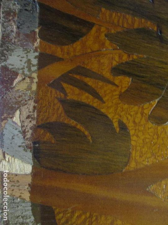 Varios objetos de Arte: Espectacular Panel - Plafón - Marquetería - Diferentes Maderas y Raíces -Paisaje -Castillo, Puente - Foto 20 - 68232597