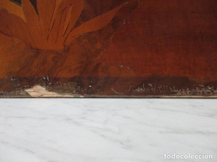 Varios objetos de Arte: Espectacular Panel - Plafón - Marquetería - Diferentes Maderas y Raíces -Paisaje -Castillo, Puente - Foto 21 - 68232597