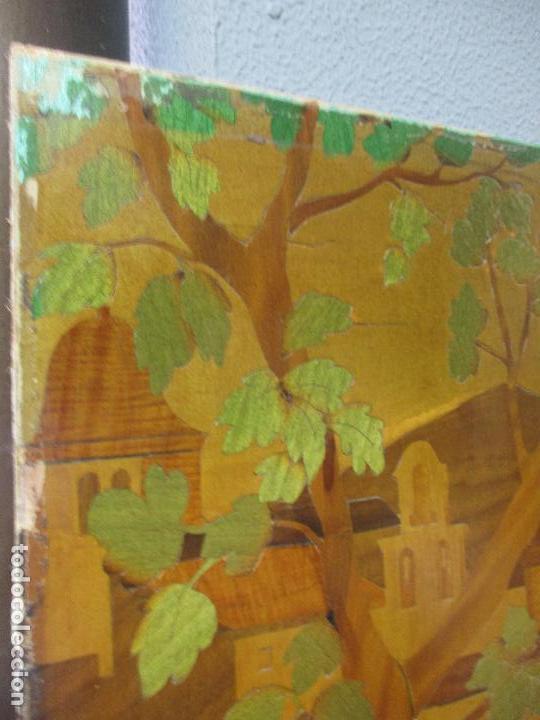 Varios objetos de Arte: Espectacular Panel - Plafón - Marquetería - Diferentes Maderas y Raíces -Paisaje -Castillo, Puente - Foto 22 - 68232597