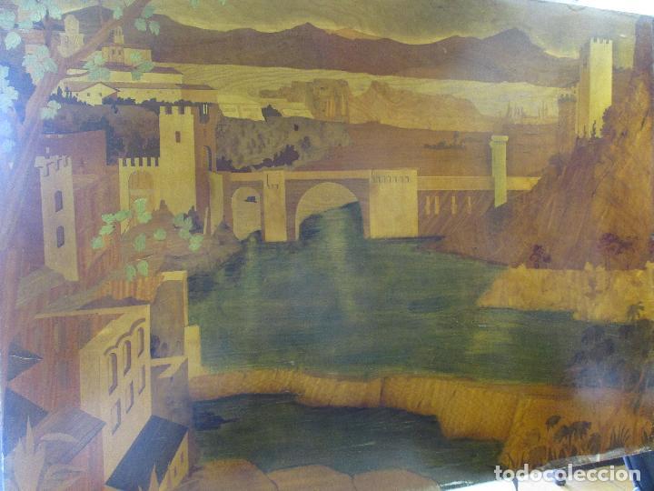 Varios objetos de Arte: Espectacular Panel - Plafón - Marquetería - Diferentes Maderas y Raíces -Paisaje -Castillo, Puente - Foto 27 - 68232597