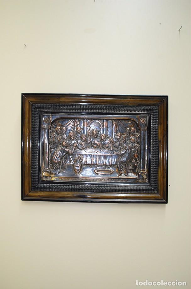 CUADRO ANTIGUO DE LA ÚLTIMA CENA DE JESÚS CON LOS 12 APÓSTOLES (Arte - Varios Objetos de Arte)