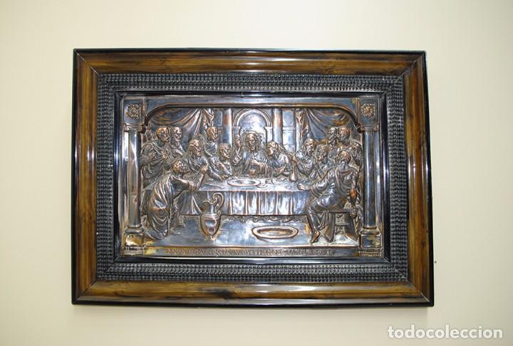 Varios objetos de Arte: CUADRO ANTIGUO DE LA ÚLTIMA CENA DE JESÚS CON LOS 12 APÓSTOLES - Foto 2 - 68498893