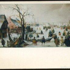 Varios objetos de Arte: THE TOLEDO MUSEUM OF ART.- WINTER SCENE ON A CANAL - HENDRIK AVERCAMP- POSTAL. Lote 69246905