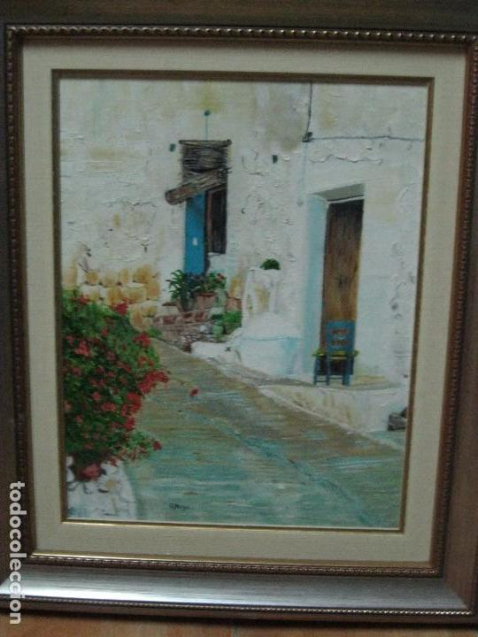 antiuo cuadro pintura antigua oleo firma a. moy - Comprar en ...