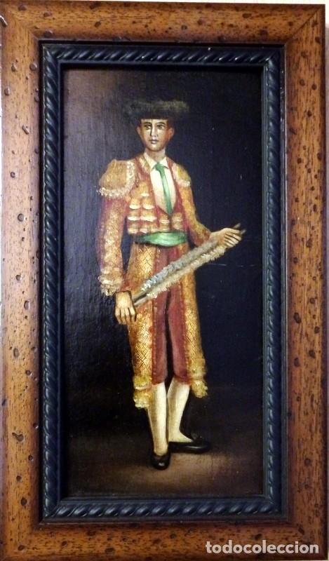Varios objetos de Arte: ESPECTACULAR LOTE DE 6 TABLAS PINTADAS, MOTIVOS TAURINOS, MEDIDAS 19X31 CMS,VER IMAGENES - Foto 4 - 71169233