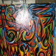Varios objetos de Arte: PINTURA ABSTRACTA OLEO SOBRE LIENZO AUTOR DESCONOCIDO MEDIDA 64 X 55. Lote 72355195
