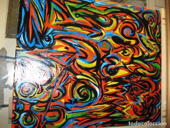 Varios objetos de Arte: PINTURA ABSTRACTA OLEO SOBRE LIENZO AUTOR DESCONOCIDO MEDIDA 64 X 55 - Foto 2 - 72355195