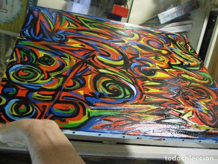 Varios objetos de Arte: PINTURA ABSTRACTA OLEO SOBRE LIENZO AUTOR DESCONOCIDO MEDIDA 64 X 55 - Foto 4 - 72355195