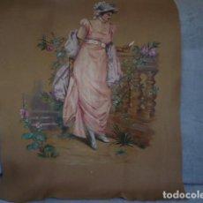 Varios objetos de Arte: PINTURA SOBRE FIELTRO ESCENA ROMANTICA. Lote 72949351