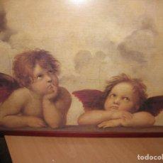 Varios objetos de Arte: LITOGRAFIA DE ANGELITOS ENMARCADA . Lote 73059887