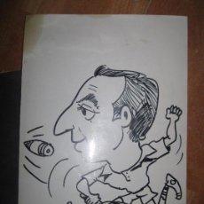 Varios objetos de Arte: DIBUJO CARICATURA 1975 ORIGINAL ANGEL VILLENA SELLO TENIS VALENCIA FABRA FERIA DEL MUEBLE. Lote 73438219
