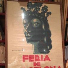 Varios objetos de Arte: CARTEL FERIA BARCELONA 1935. Lote 73465179