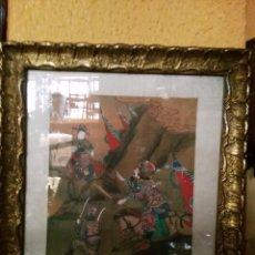 Varios objetos de Arte: LÁMINAS CHINAS ENMARCADAS. Lote 73826039