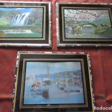 Varios objetos de Arte: LOTE 3 CUADROS-TRIDIMENSIONALES-COMO NUEVOS-VER FOTOS.. Lote 74057575