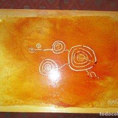 Varios objetos de Arte: *(3)-ARTE-OBRA-CUADRO-MARGA CHAS OCAÑA-PETROGLIFO GALAICO-50X35 CMS-TÉCNICA A DEFINIR-VER FOTOS.. Lote 74099875