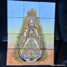 Varios objetos de Arte: VIRGEN DEL ROCIO 12 AZULEJOS 45CM X 60CM PINTADO A MANO ASTORZA 1990 AZULEJO. Lote 74230158