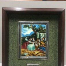 Varios objetos de Arte: CUADRO GOYA ESMALTE AL FUEGO. Lote 74751329