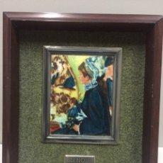 Varios objetos de Arte: CUADRO RENOIR ESMALTE AL FUEGO. Lote 74751530